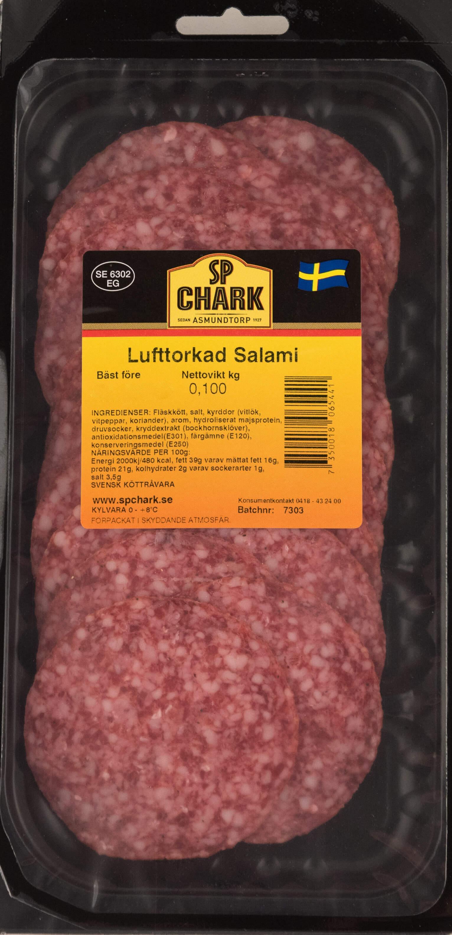 Lufttorkad salami